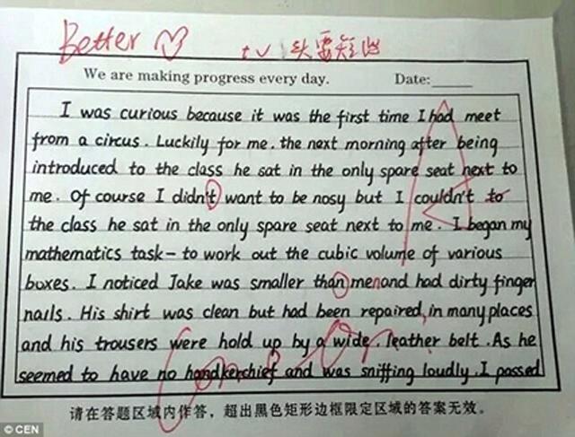 咱们的手写印刷体英语作高中去英国了,歪文火都看跪了胶州果仁的图片